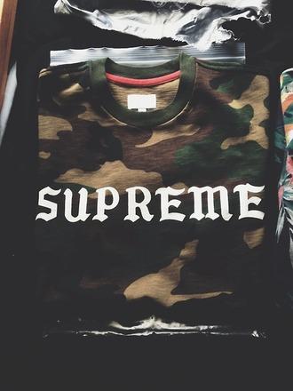 camo shirt supreme menswear camouflage