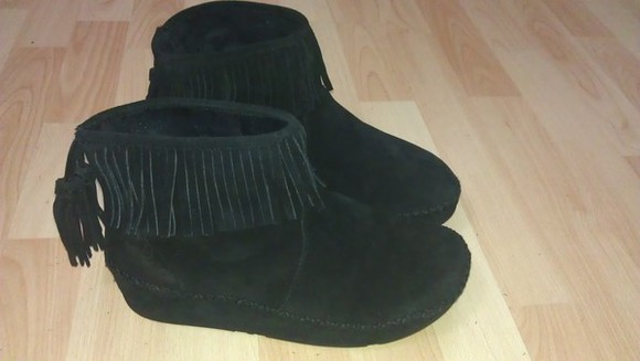 shoes fringe boots black suede boots