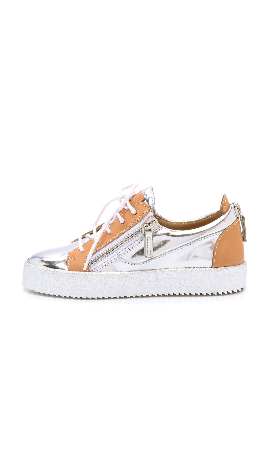 Giuseppe zanotti mirrored low top sneakers