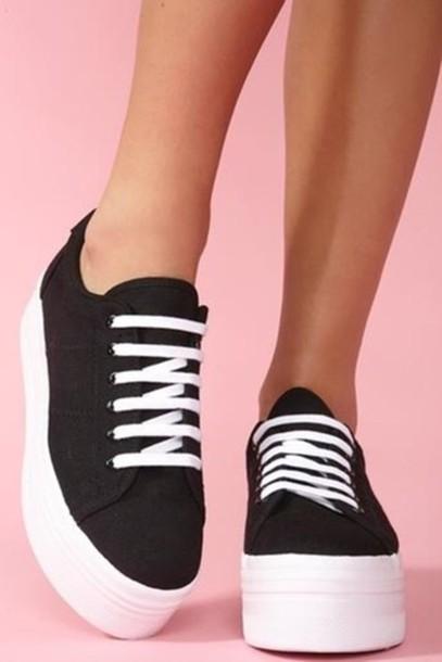 4d8b584747 shoes, sneakers, vans, platform sneakers, high top sneakers - Wheretoget