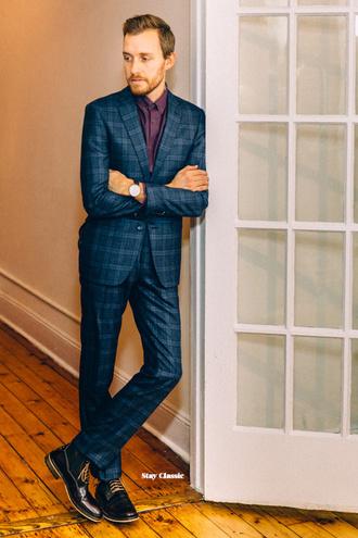 stay classic blogger classy mens suit tartan mens blazer