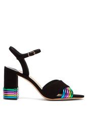 heel,sandals,suede,black,shoes