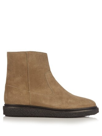 suede ankle boots boots ankle boots suede khaki shoes