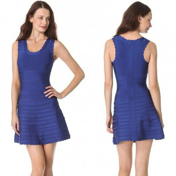 bandage dress a-line bandage dress blue bandage dress