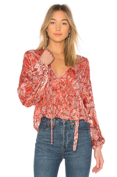 Alexis blouse pink top