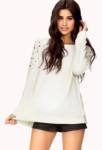 Total Stud Cable Knit Sweater | FOREVER21 - 2078226583