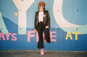 let's get flashy,blogger,top,pants,jacket,shoes,hat