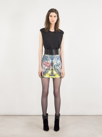 iro lookbook fashion skirt belt
