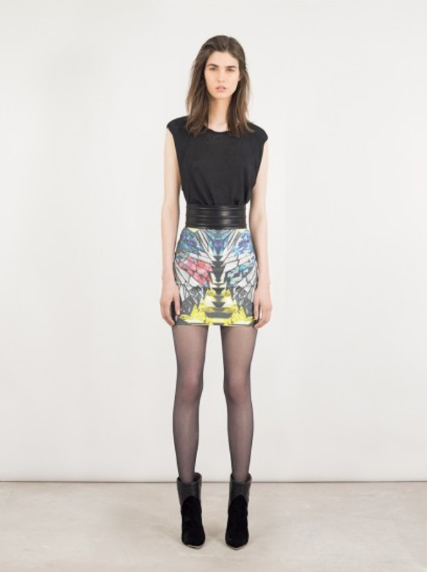 skirt iro fashion lookbook belt