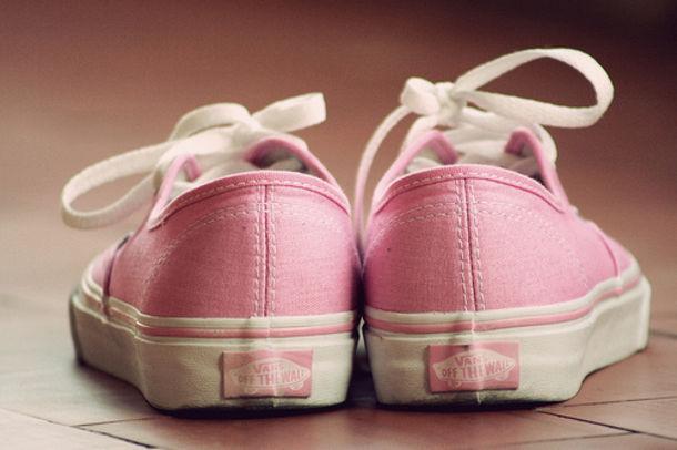 Vans Pastel Pink Shoes Pink Cute Vans Girly