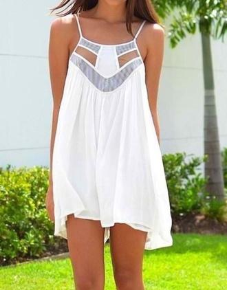 dress summer white flowy short straps light grey mesh tumblr sun warm