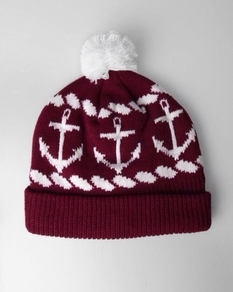bordeaux hat white