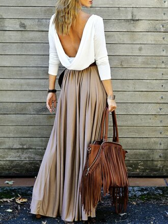 skirt fashion style trendy maxi skirt summer boho festival gamiss