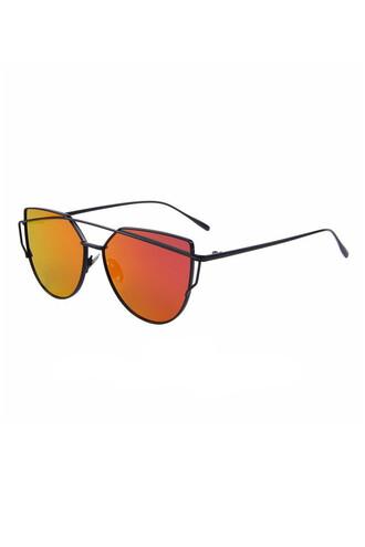 sunglasses red black red lenses bikiniluxe
