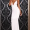 Cute long sexy backless twist dress