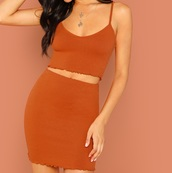 dress,girl,girly,girly wishlist,crop tops,cropped,crop,skinny jeans,two-piece,matching set,two piece dress set,orange,cute,ruffle