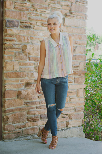 wild one forever - fashion & style by kristin blogger tank top top jeans shoes jewels