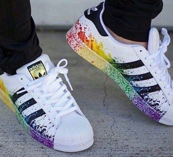 Adidas Superstars Mit Farbspritzern