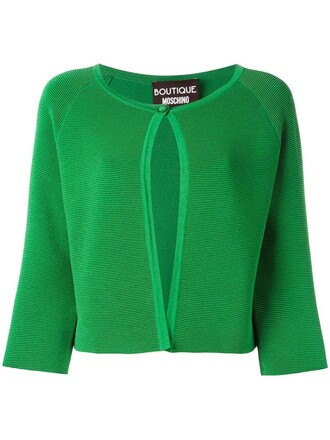 cardigan cropped women green sweater