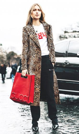 coat leopard print leopard print coat streetstyle