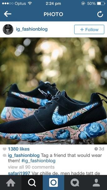 shoes blue rose nike