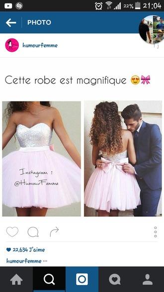 dress pink dress short bow