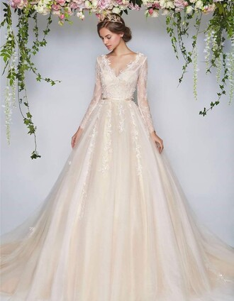 dress wedding dress princess wedding dresses girl bridesmaid wedding style wedding clothes lace wedding dress 2016 wedding dresses vintage wedding dress long sleeve wedding dress lace bridal gowns bridal gown