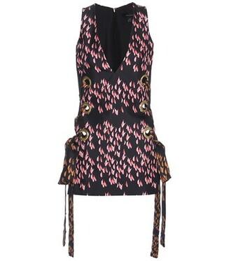top embellished silk black