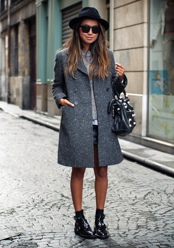 sincerely jules coat sweater t-shirt skirt shoes hat sunglasses bag
