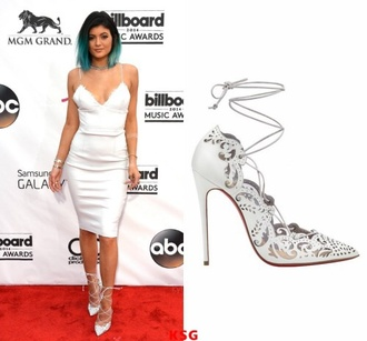 shoes kylie jenner heels white shoes