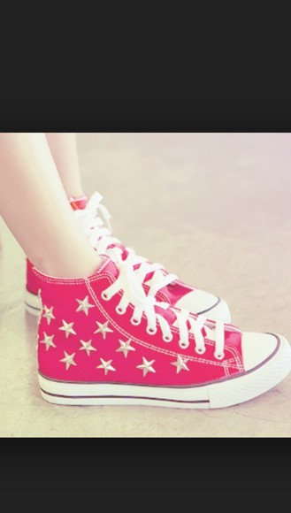 shoes red shoes converse shoes stars