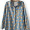 Light blue simpson print cartoon denim blouse - sheinside.com