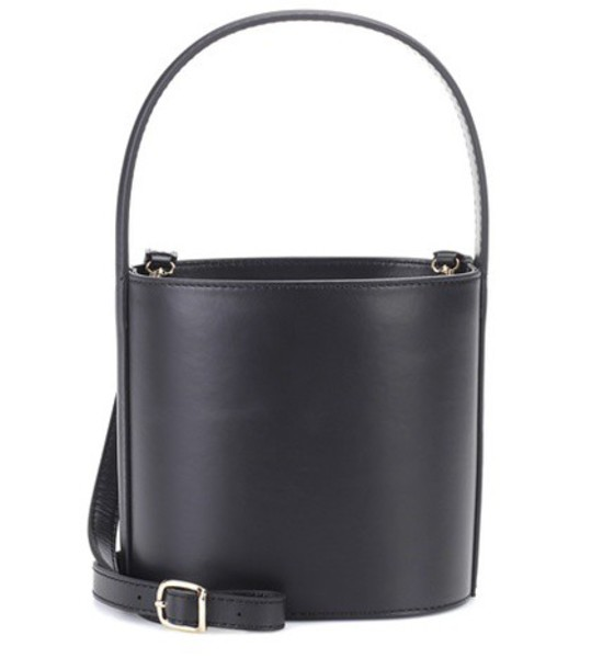 Staud bag bucket bag leather black