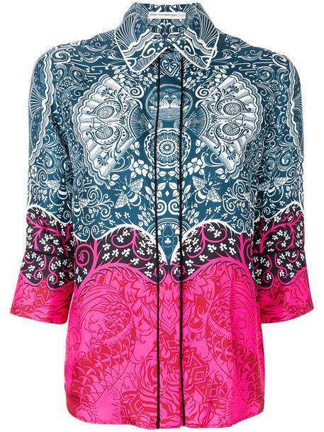 Mary Katrantzou - printed straight fit shirt - women - Silk - 12, Silk
