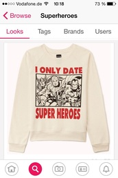 sweater,superheroes,white,style,marvel,comics