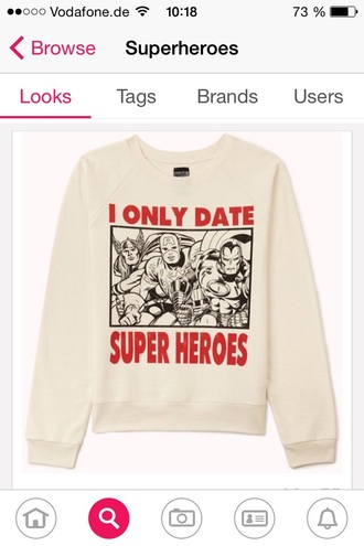 sweater superheroes white style marvel comics