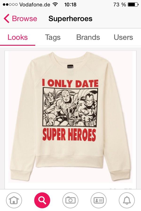 sweater superheroes white style marvel comics