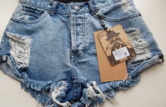 shorts one teaspoon denim clothes brand highwaisted denim shorts high waisted fabulous amazing love