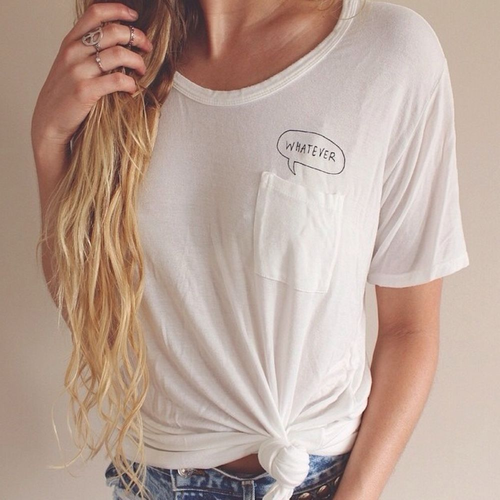 "Brandy Melville Quinn ""Whatever"" Oversized Top 