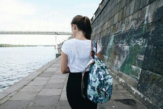 printed bag tropical white t-shirt backpack printed backpack print floral bag rucksack packsack floral backpack floral white top white streetstyle dsad