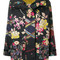 Herno - embroidered floral jacket - women - polyamide/polyester - 40, black, polyamide/polyester