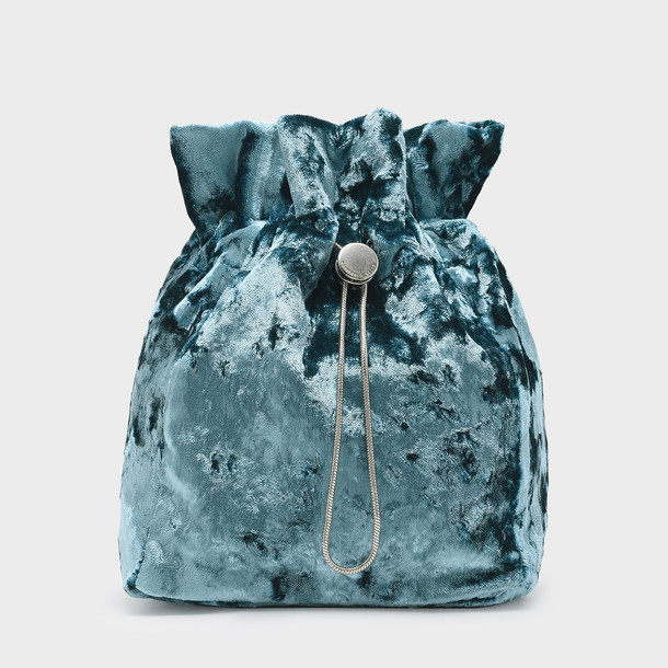 drawstring bag blue