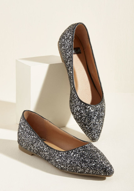 Stanley glitter style street flats silver shoes
