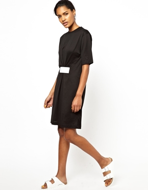 Ann-Sofie Back | BACK by Ann-Sofie Back T-shirt Dress with Velcro Detail at ASOS
