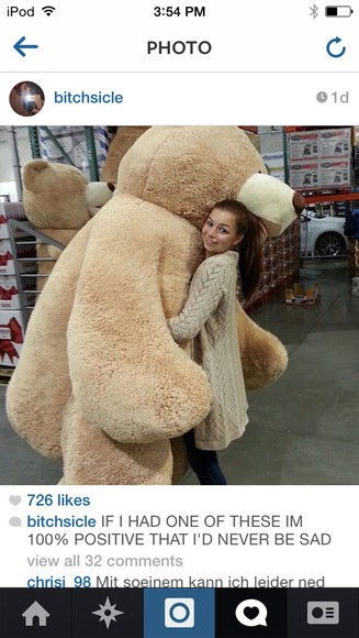 jewels teady bear stuffed animal oversized cute