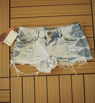 shorts bleached acid wash ripped shorts