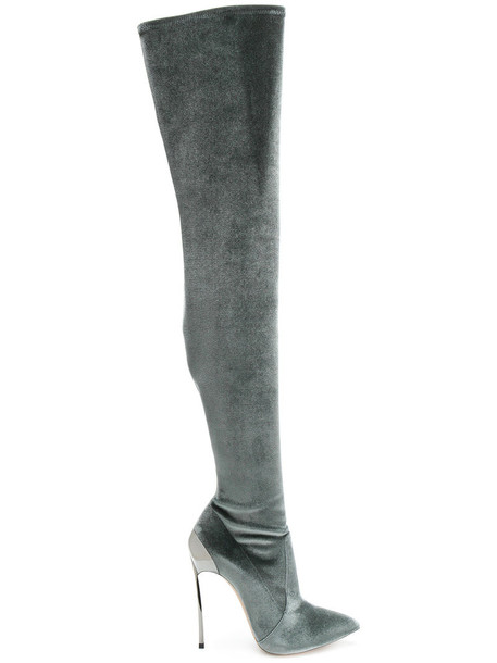 CASADEI women leather grey shoes