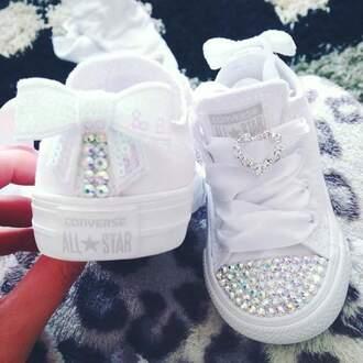 shoes rhinestones converse plain white