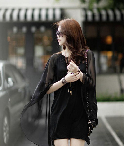 2014 spring sexy women's elegant fashion patchwork chiffon slim hip slim one-piece dress | Amazing Shoes UK