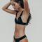 Charli noir velvet bikini set